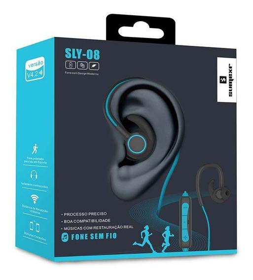 Fone De Ouvido Sem Fio Bluetooth Esportivo ( Sumexr ) Azul