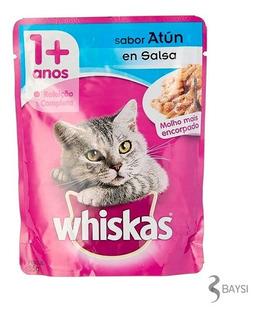 Comida Para Gato 1+ Años - Sabor Atun En Salsa - Whiskas