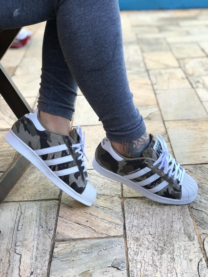 Tênis adidas Super Star Foundion Couro Feminino Masculino