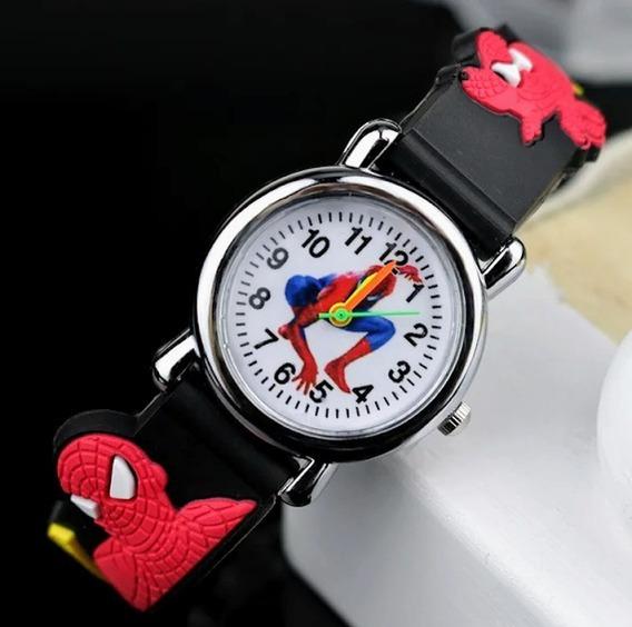 Relogio Infantil -spiderman - Homem Aranha - Mais Brinde