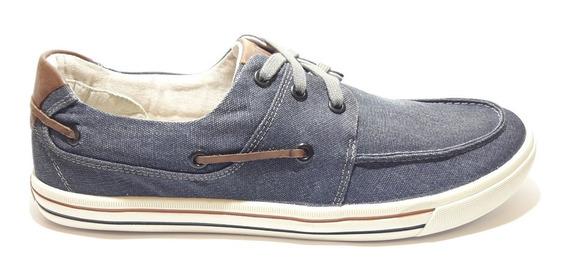 Sapatênis,dockside,tênis Urban Plot Democrata Lona Jeans Azul/tabaco Ou Smoke/tabaco Ref:209106