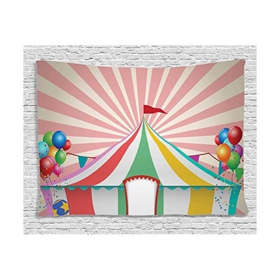Tapiz Colorido Circo Decoración Por Ambesonne, Para Los Cabr