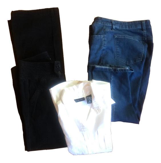 Pantalon Blusa Mezclilla Mujer Paquete Barato Talla 6 Usado