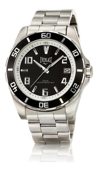 Relógio Pulso Everlast Masculino Aço Calendário E284