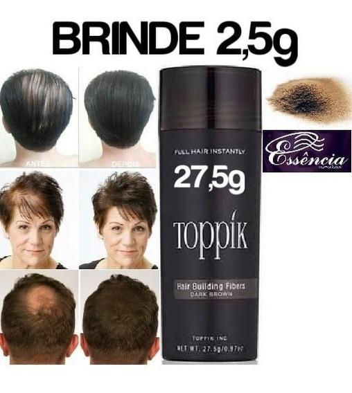 Toppik 27,5g Maquiagem Capilar Hair+ Brinde Pronta Entrega
