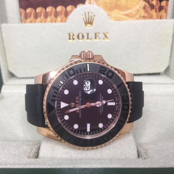 Relógio Acab. Eta -relógio Rolex Yacht Master + Caixa Verde