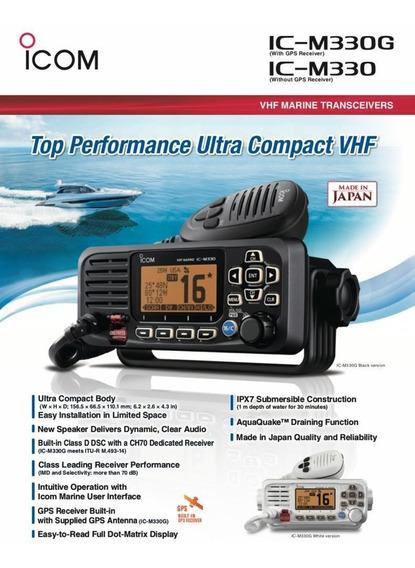 Rádio Transceptor Vhf Marítimo Icom Ic-m330 C/nf Homologado
