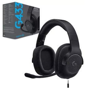 Headset Gamer Logitech G433 7.1 Preto Pc Ps4 Switch Xbox