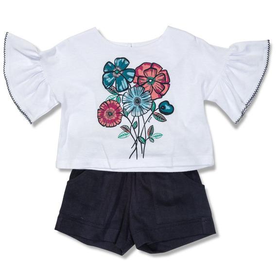Conjunto Ramos Branco Green - Toddler Menina