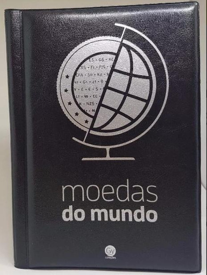 Belíssimo Álbum Moedas Do Mundo - Folhas De Pvc Com Aba !!!