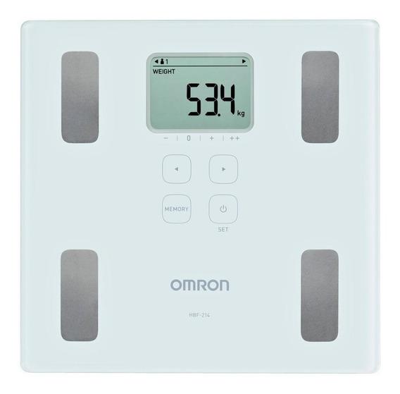 Balança corporal Omron HBF-214 branca