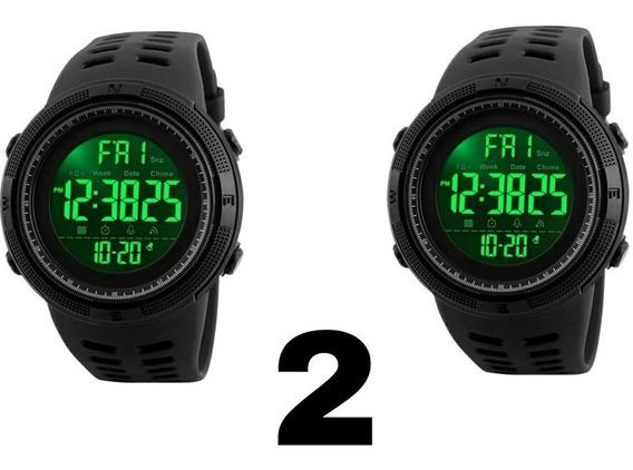 Kit 2 Relógio Masculino Skmei 1251 Digital Esportivo.