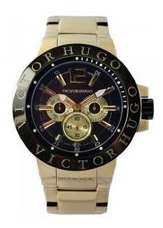 Relógio Victor Hugo Unissex Quartz (modelo Vh10090gsg/02m)