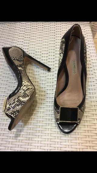 Sapato De Couro Corello 37 Novo