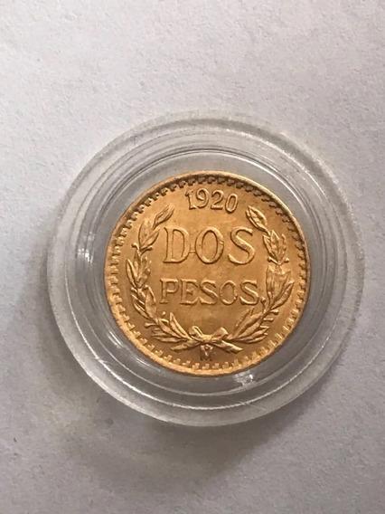 Moneda Oro Puro 2 Pesos