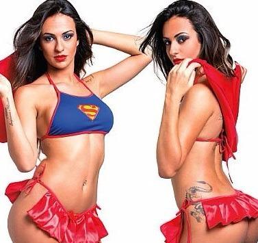 Mini Fantasia Sensual Heróis Super Girl Sexy Fácil Prazer