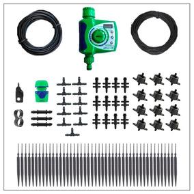 Kit Irrigação Para 56 Vasos Com Temporizador Automático