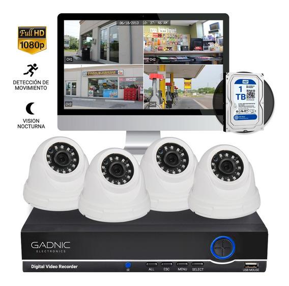 Kit 4 Camaras Seguridad Ip Hd Audio Y Video Disco Rigido 1tb
