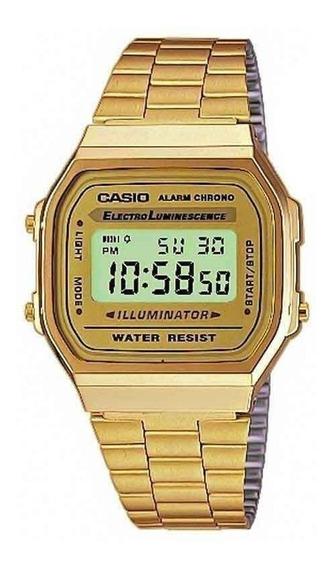 Relógio Casio Unissex Vintage A168wg-9wdf Original C/ Nota