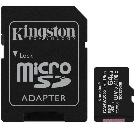 Cartão De Memória Kingston Canvas Select Plus 64gb Classe 10