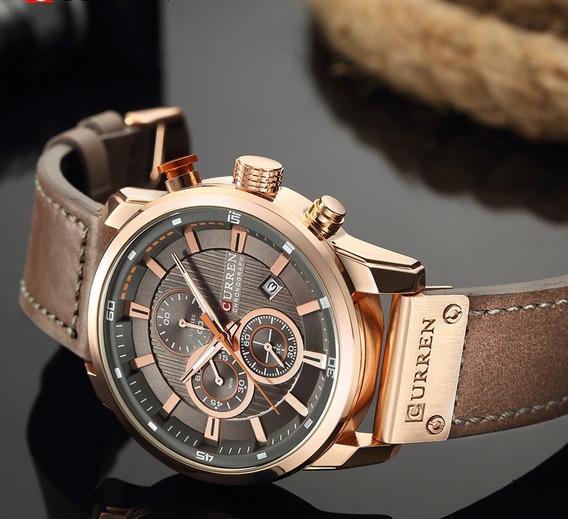 Relógio Pulseira De Couro Original Com Garantia