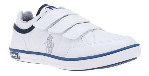 Tenis Escolar Niño Blanco 123909 Hpc Polo