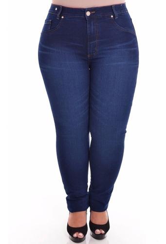 Imagem 1 de 4 de Calça Jeans C/ Lycra Feminina Tamanho Grande Plus Size