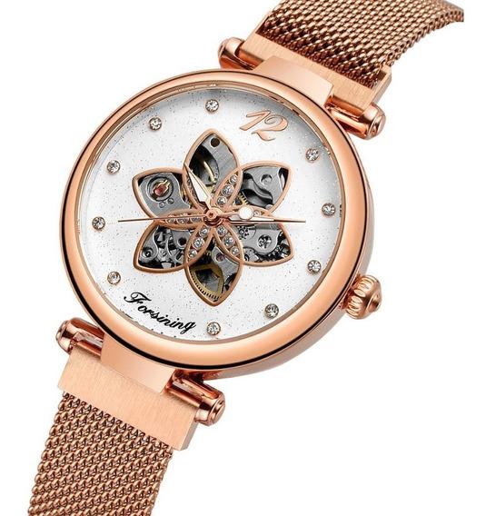 Reloj Dama Forsining Automático Mujer Acero Inoxidable