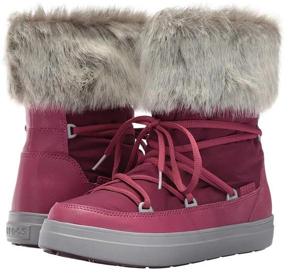 Botas Crocs De Invierno Lodgepoint Lace Nieve 34231