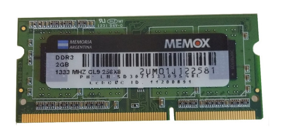 Memorias Ddr3 2gb 1333mhz So-dimm Pc3-10600 Notebook Netbook
