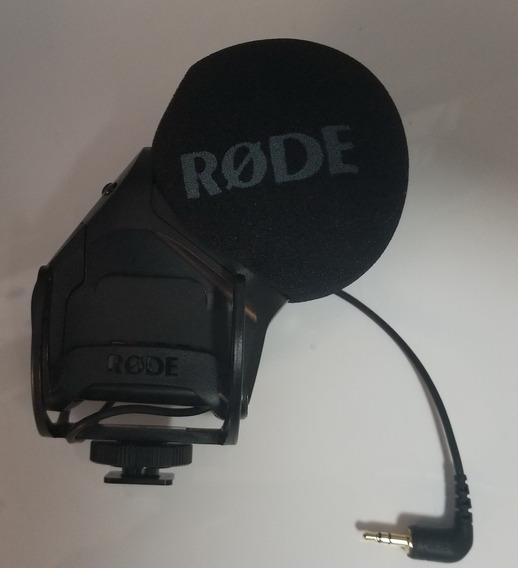 Microfone Rode Stereo Videomic Pro Shotgun Dslr Nikon Canon
