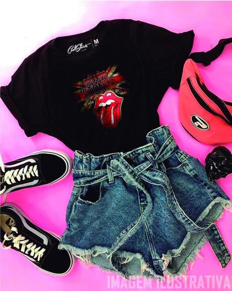 Camiseta Camisa Rolling Stones Banda Lançamento Algodão
