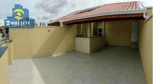 Cobertura Com 2 Dormitórios À Venda, 84 M² Por R$ 350.000,00 - Campestre - Santo André/sp - Co0151