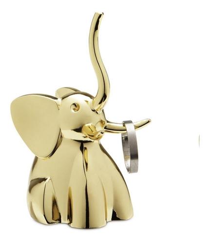 Elefante - Porta Anéis Umbra Dourado