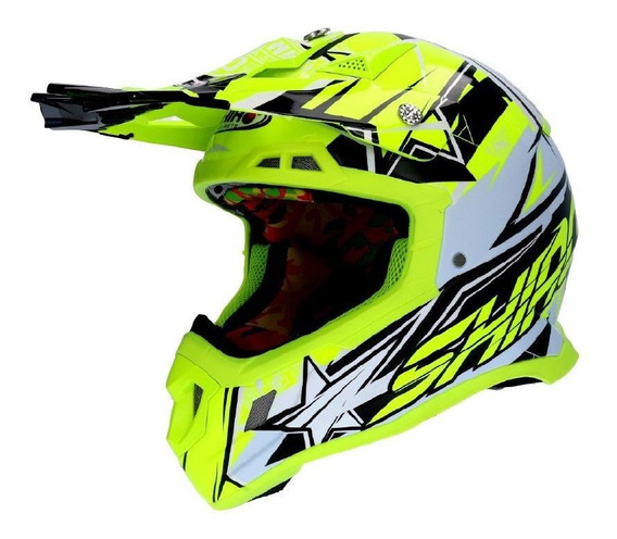 Capacete Shiro Thunder 3 Composto De Carbono Mx 917 Cross Motocross Trilha Enduro