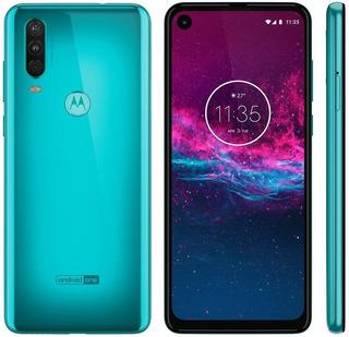 Smartphone Motorola One Action 128 Gb Aquamarine Lacrado