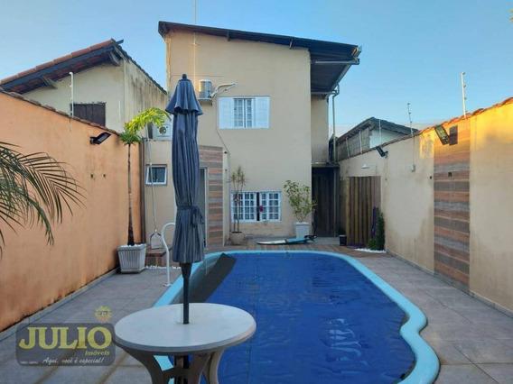 Entrada R$ 50 Mil + Saldo Financiado! Sobrado Com 3 Dormitórios, 140 M² Por R$ 250.000 - Cibratel I - Itanhaém/sp - So0809