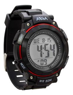 Reloj Deportivo Alarma Cronometro Luz Sumergible Hombre Aiwa