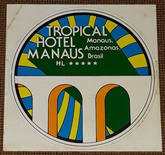 Tropical Hotel Manaus - Adesivo Raro - Varig