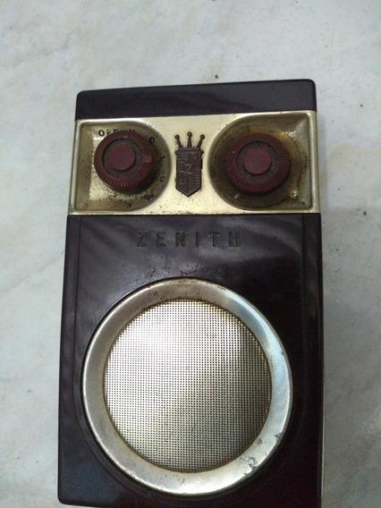 Rádio Portátil Zenith Antigo Raridade Para Colecionadores