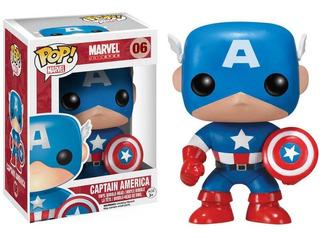 Funko Pop Figura Capitan America Int 2224 Original Wabro