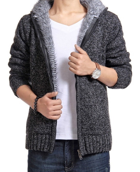 Suéter De Algodón Hemiks Winter Solid Zipper Slim