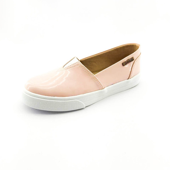 Tênis Slip On Quality Shoes Feminino 002 Verniz Rosa