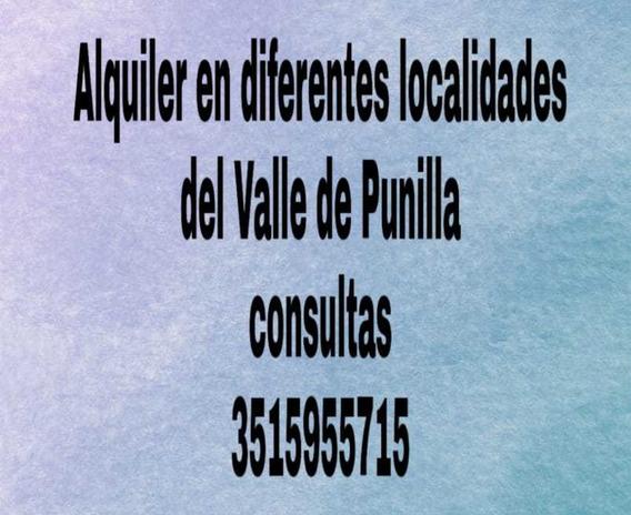 Alquiler En Valle De Punilla