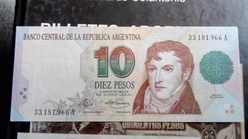 10 Pesos Primer Diseño Firma Murolo Fernandez