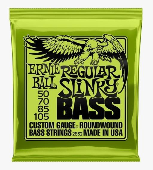 Encordoamento Baixo 4 Cordas Ernieball Regular Slinky 50-105