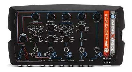 Crossover Jfa X5 Bass Evo 5 Vias Digital Crosolve Mesa Rca