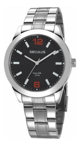 Relógio Seculus Masculino Prateado Analógico 28982g0svna2