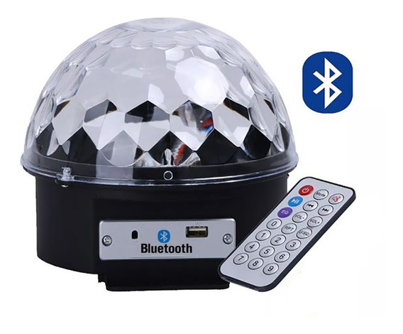 Kit 15 Bola Maluca Globo Luz Rgb Led Bluetooth Caixa Som