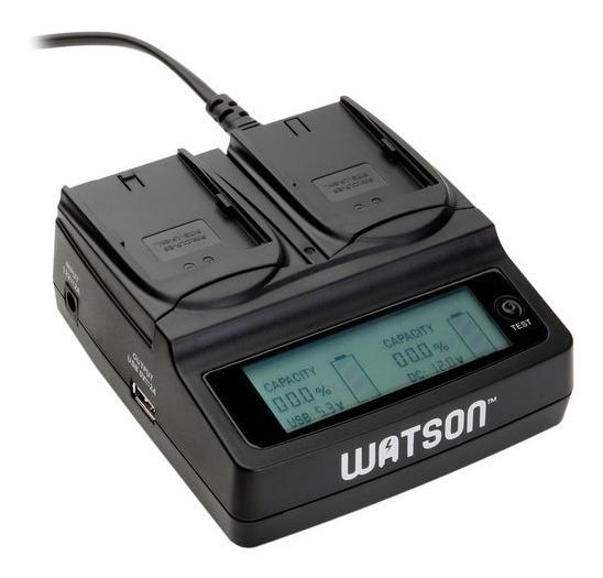 Carregador Duplo Bateria Lp-e6n Canon Da Watson